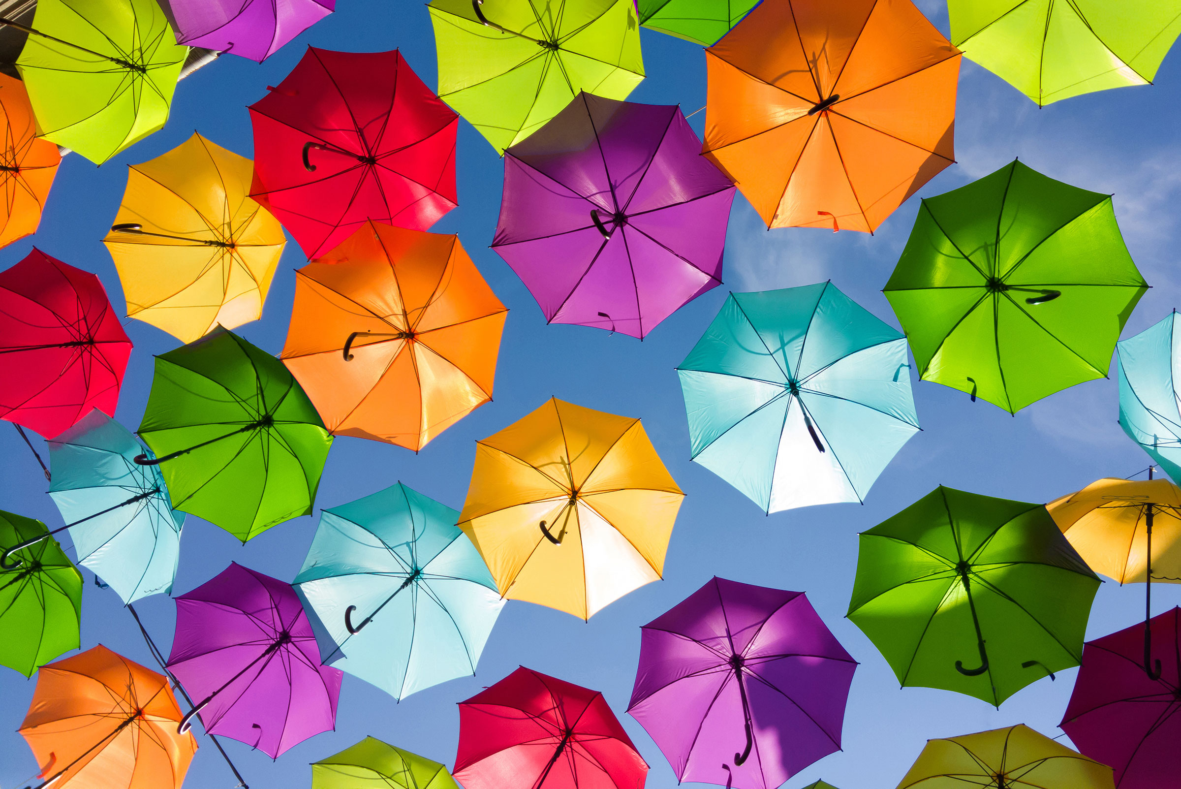 Colorful-umbrellas-in-the-sky
