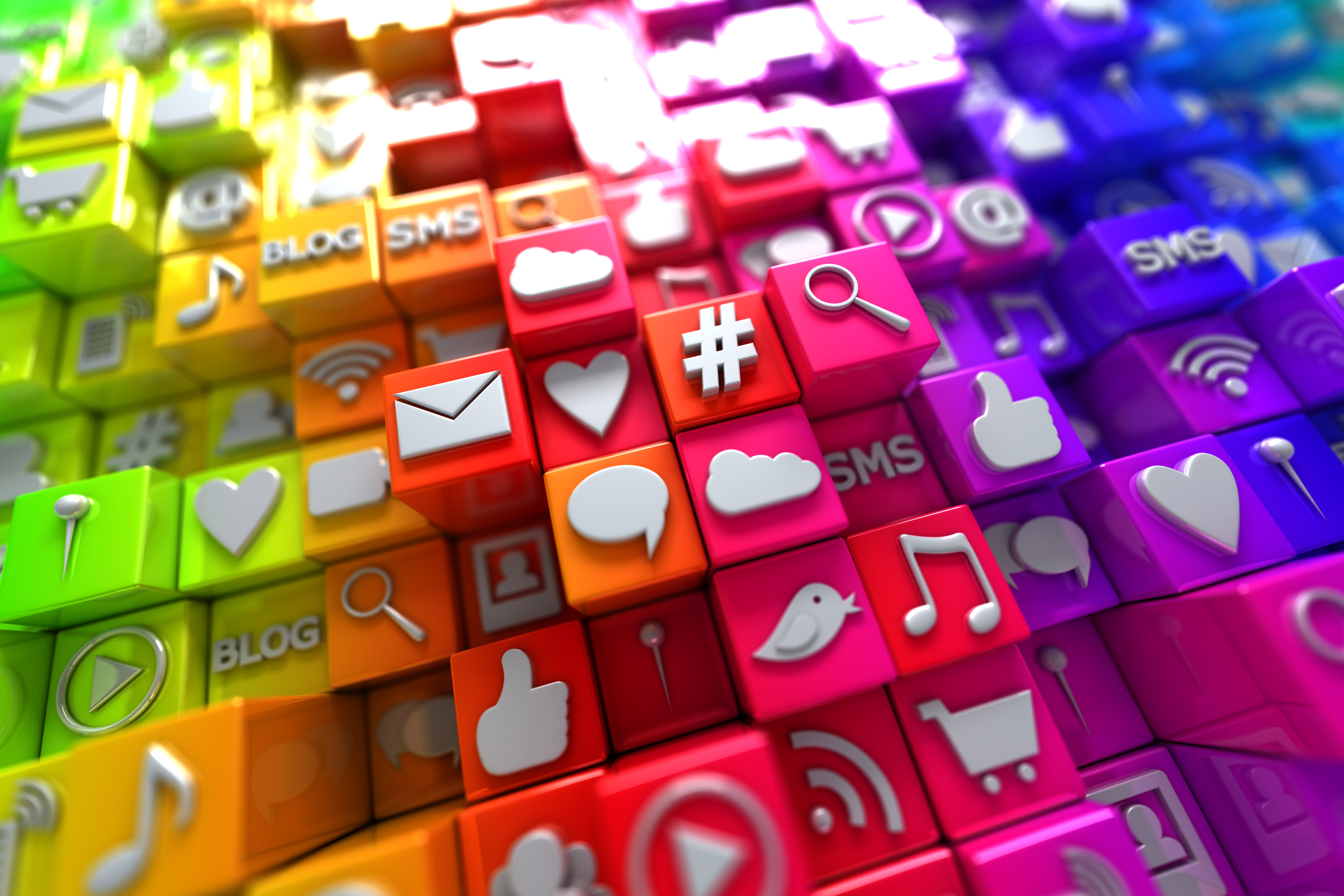 Colorful-social-media-icons
