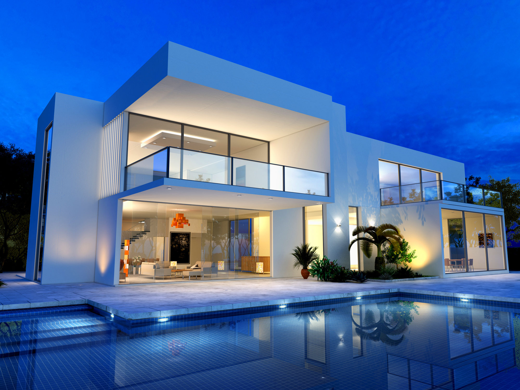 Luxurious-contemporary-home-with-pool
